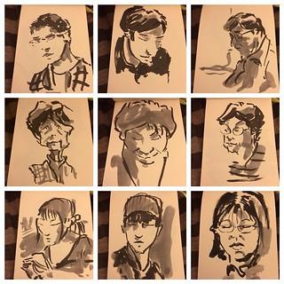 #japon #tokyo #metro #portraits #pentel