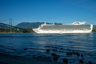 Crown Princess leaving Vancouver, BC