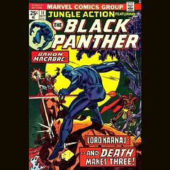 """JUNGLE ACTION Featuring The Black Panther."" #comics"