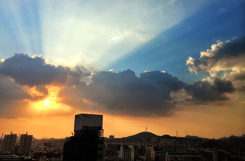 sunset cloud cloudy 석양 구름 경원하이츠텔