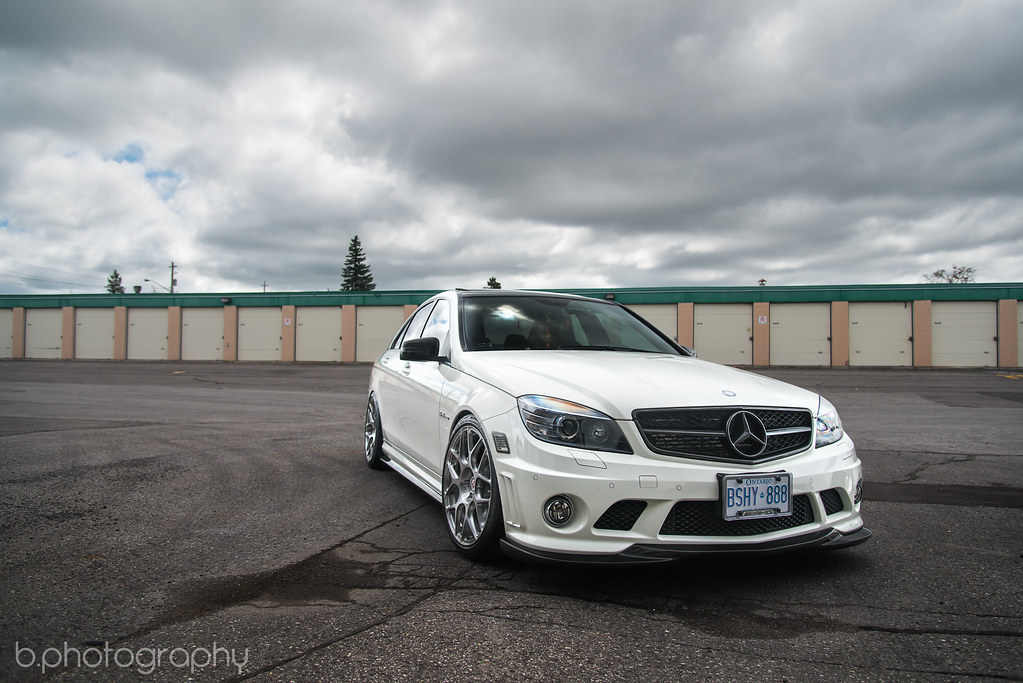 C63 on HRE Wheels
