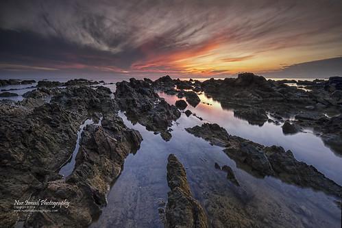 reflection sunrise details terengganu singleexposure rockyseascape pantaipandak nurismailphotography vmy2014 nurismail visitmalaysiayear2014