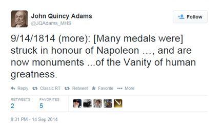 John Quincy Adams tweet 1814-09-14b