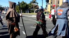 Medieval Men in #City2Bay fun run.