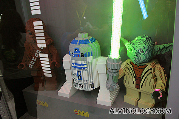 Chewbacca, R2D2, Yoda