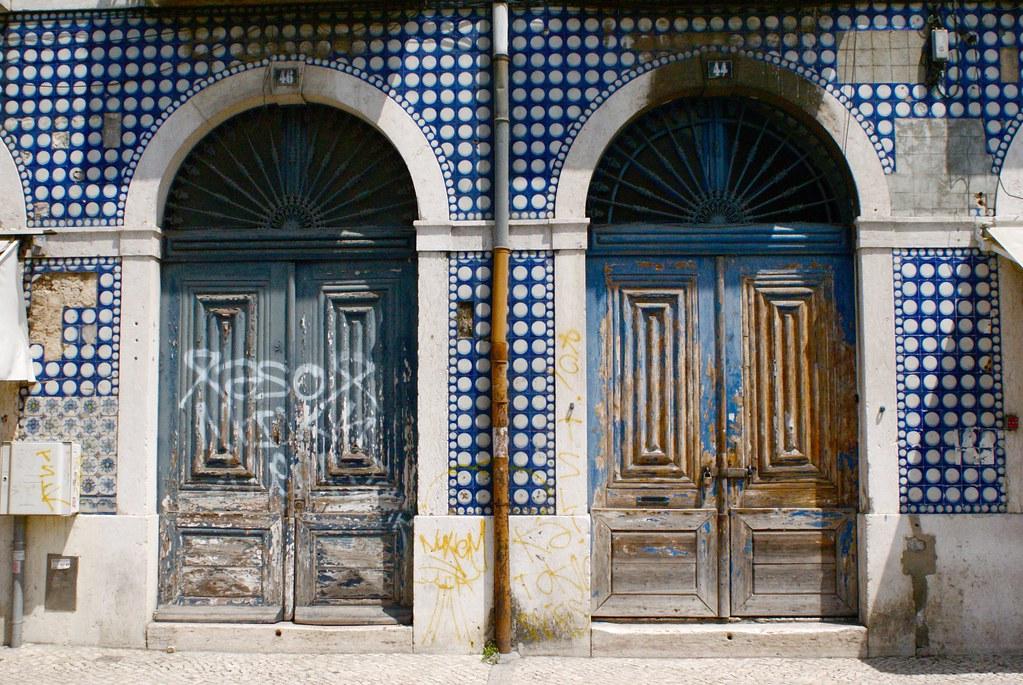 Façade dans le quartier de Cais do Sodré à Lisbonne.