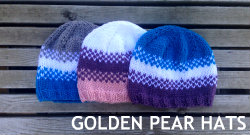 golden pear hats 250