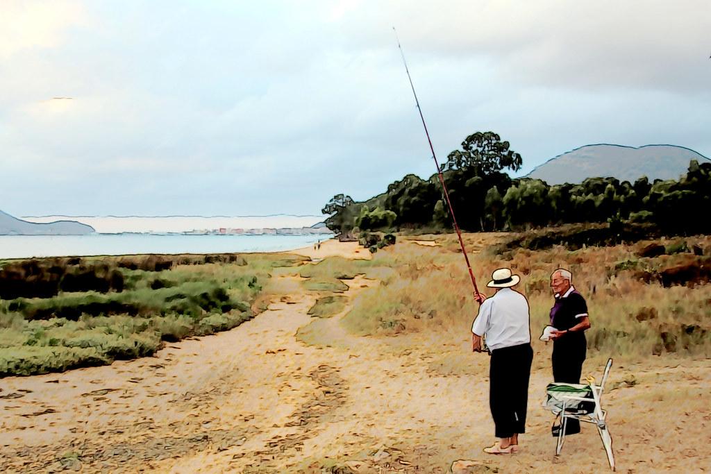 pescador de ribera