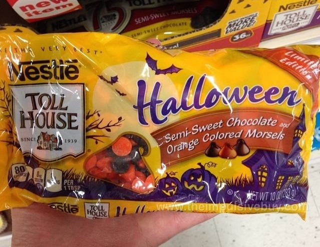 Nestle Toll House Limited Edition Halloween Semi Sweet Chocolate and Orange Colored Morsels