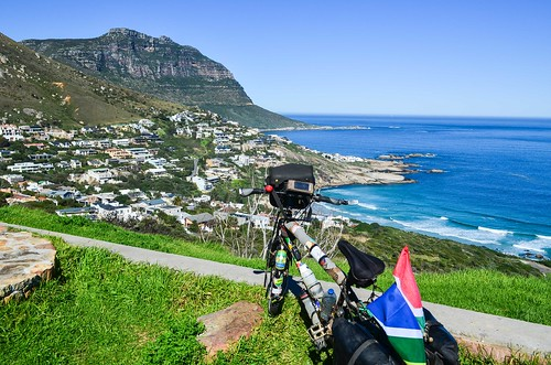 Cycling around the Cape Town peninsula, Llandudno
