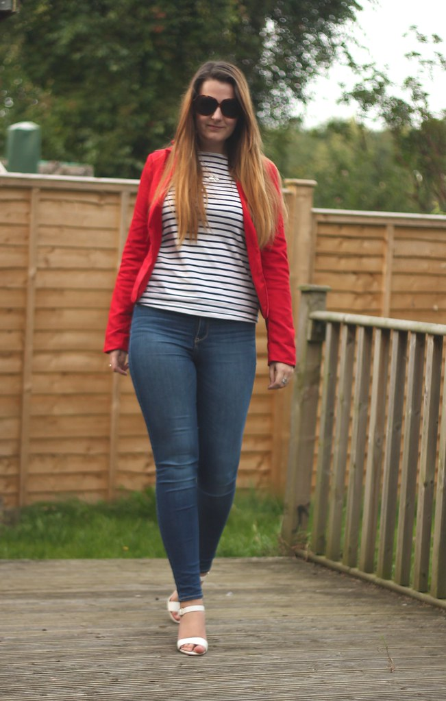 Breton striped top with jeans