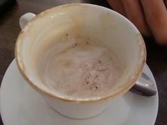 cappuccino(1.0), flat white(1.0), cup(1.0), salep(1.0), atole(1.0), cortado(1.0), coffee milk(1.0), caf㩠au lait(1.0), coffee(1.0), coffee cup(1.0), caff㨠macchiato(1.0), drink(1.0), latte(1.0), caffeine(1.0),