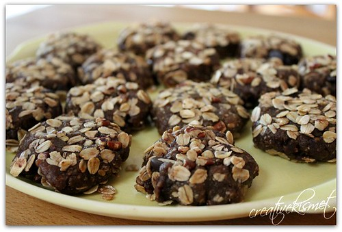 raw oatmeal walnut cookies