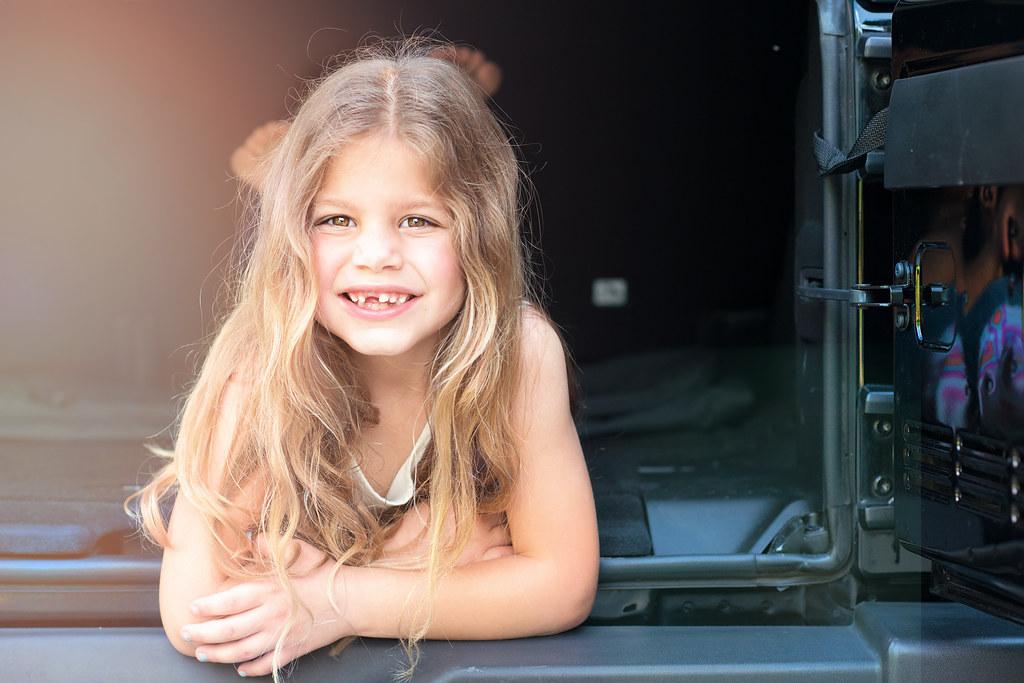 Emma in jeep sun copy
