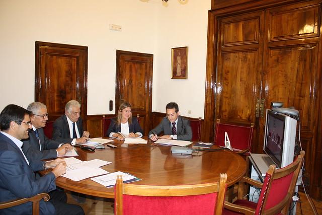 Reunión mixta de comisión de seguimiento de VUE