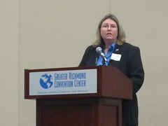 Maggie Sacra at Podium of Equality Breakfast 2013