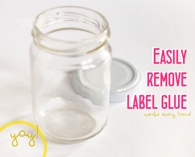 Easily remove label glue