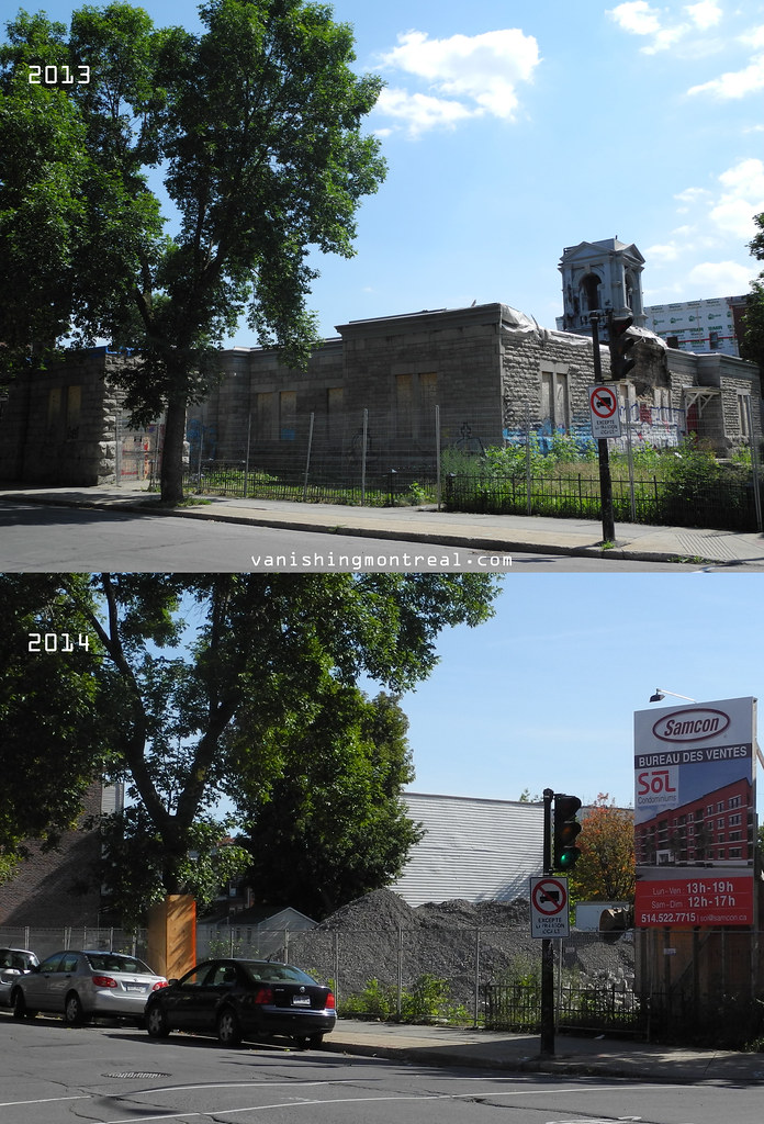 Before and After : Église St-Anselme church 2