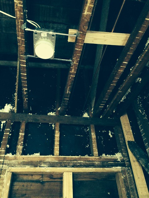 Supply lines through the attic