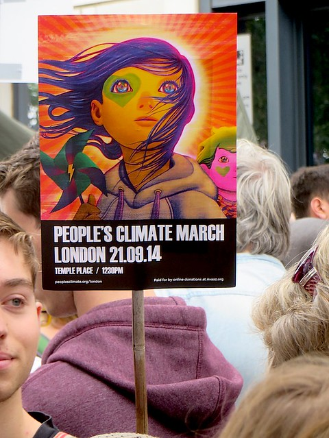 Poster for the People's Climate March, London, September 21, 2014