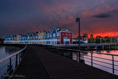 Coloured houses in Houten, The Netherlands