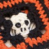 NEW project: #crochet #Skull Coasters for monsters with manners. Halloween may bring the heathens, but that doesn't have to mean rings on the table! Link in IG profile or find on the @cloverusa blog. #halloween #kitschy #skeleton #tutorial #amourhook