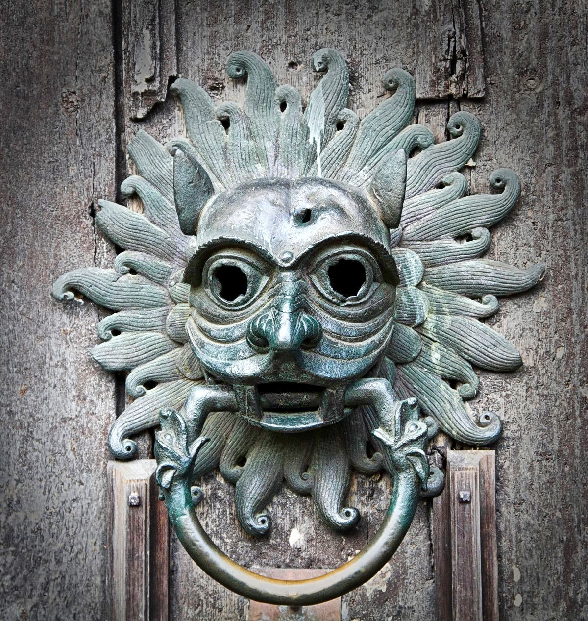 Door knocker at Durham Cathedral. Credit Michael Beckwith