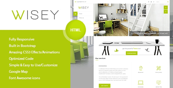Wisey - High Performance HTML5 Template