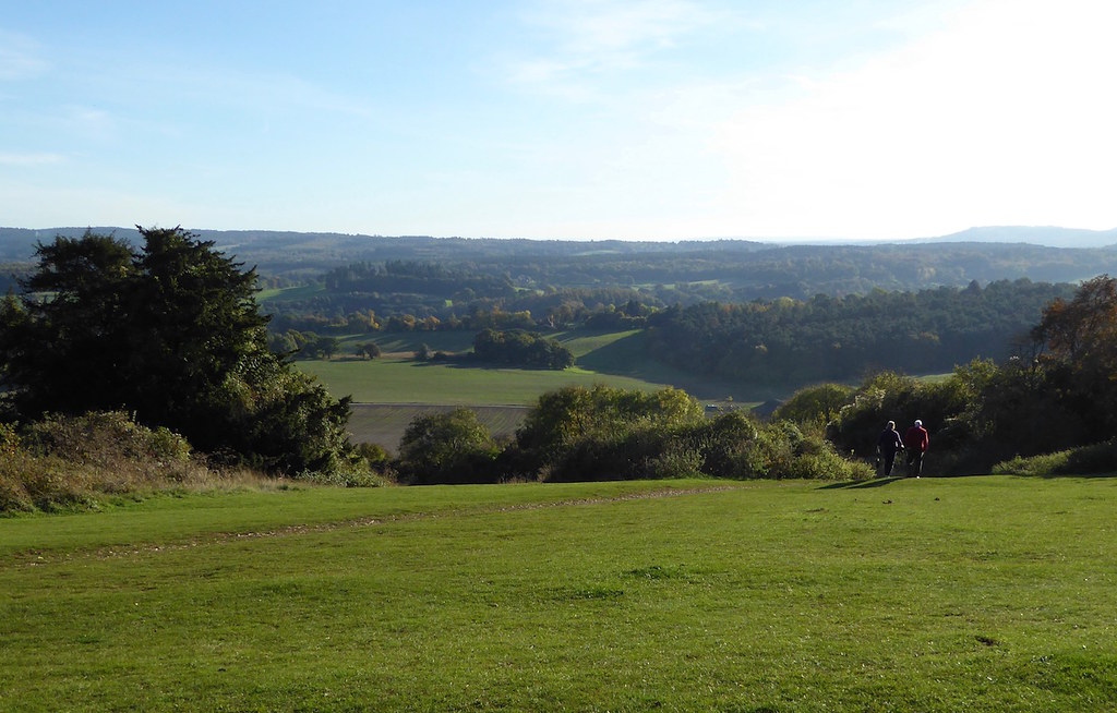 View from Newlands Corner Guildford to Horsley walk
