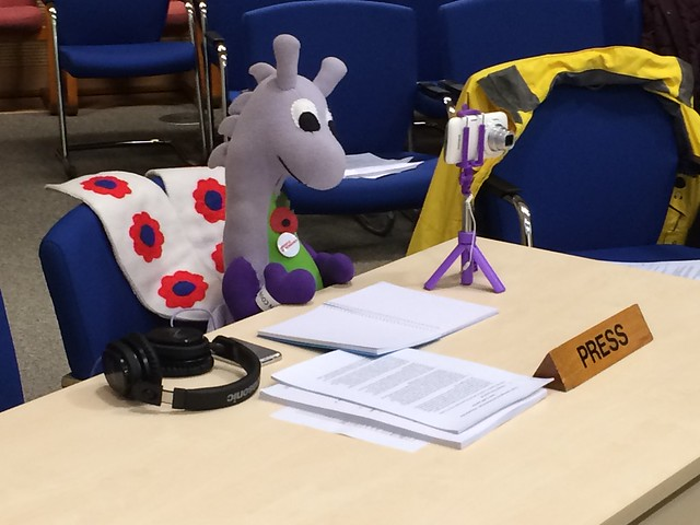 Puffles as a community reporter