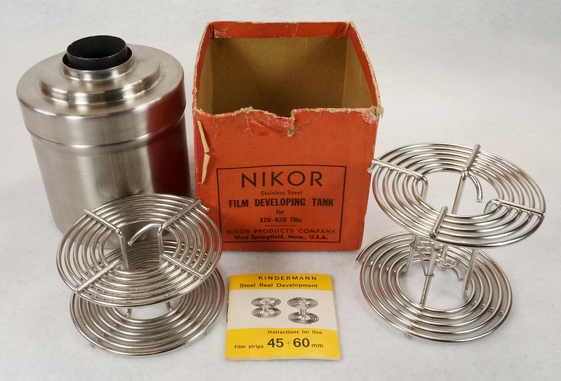 RD14949 Vintage Nikor Stainless Steel Film Developing Tank for 120-620 Film + 2 Reels DSC06699