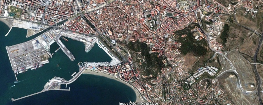después, urbanismo, foto aérea,desastre, urbanístico, planeamiento, urbano, construcción,Escuela de Arquitectura de Málaga, Puerto de Málaga