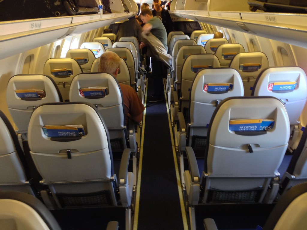 Economy class cabin on the CRJ-700