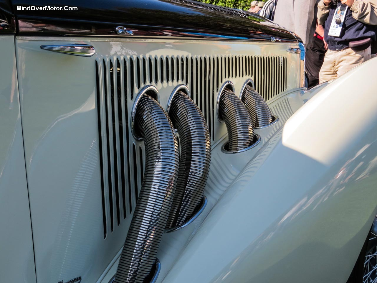 Delage D8 120S Exterior Exhaust Pipes