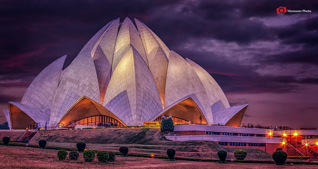Lotus Temple Sunset, Delhi