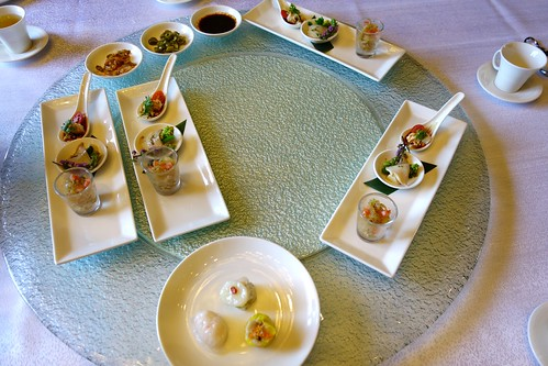 Appetizers from Shisen Hanten's Set Lunch Menu