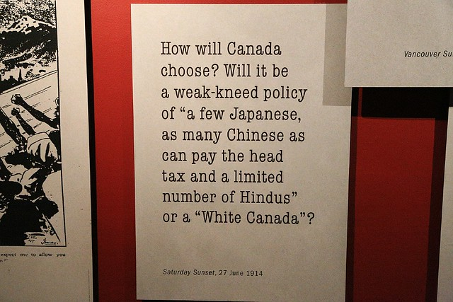 White Canada anti-Asian policy, KGM100, Maritime Museum, Vancouver, Canada