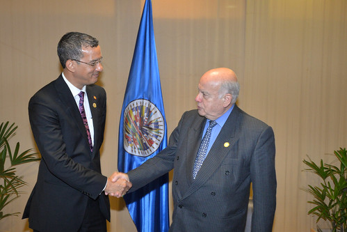 OAS Secretary General and Foreign Minister of Grenada Meet