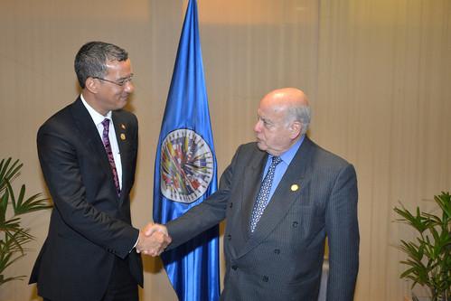 Secretario General de la OEA y Canciller de Grenada sostienen encuentro