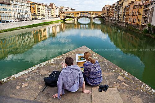 Firenze, artisti al Ponte Vecchio (34266)