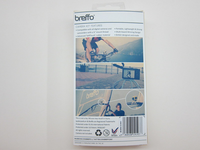 Breffo Adventure Camera Tripod - Box Back