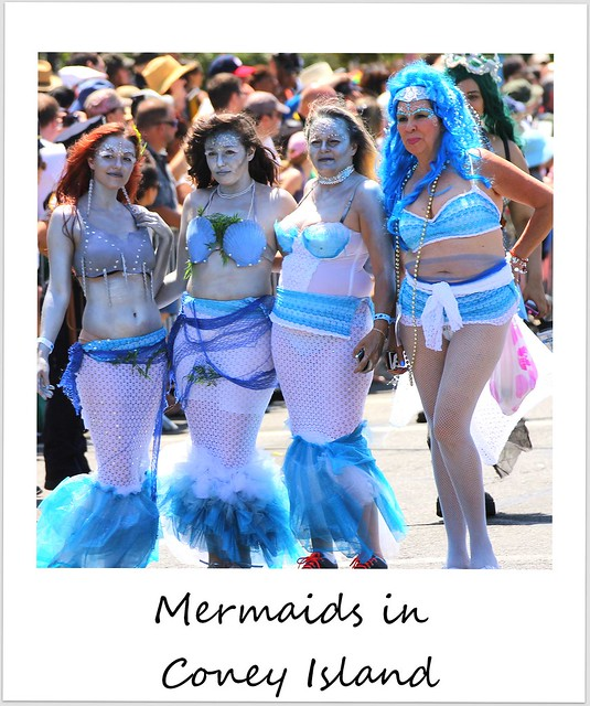 polaroid of the week usa new york city coney island mermaid parade