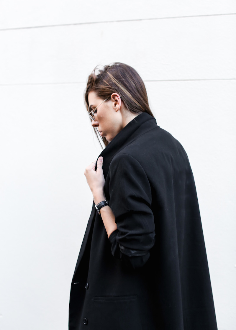 modern legacy fashion blog australia office wear Witchery jumpsuit street style all black Alexander Wang Antonia heels Monki oversized boyfriend blazer  (1 of 1)