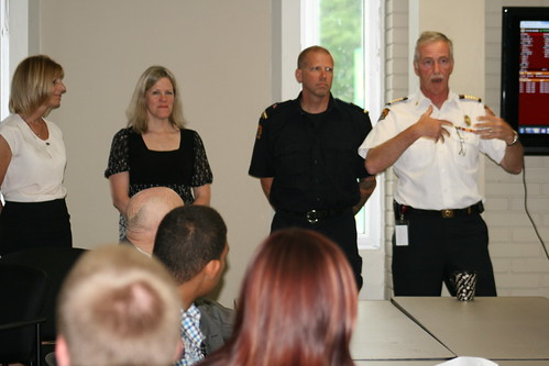 Co-op Teachers, Captain Somerville and Chief Montone at Co-op Graduation