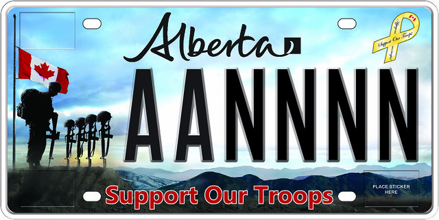 Support our Troops Licence Plate available July 23