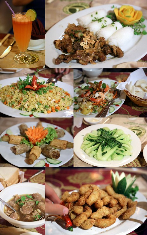 Food aboard Saigon River dinner cruise