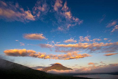 morning summer japan fuji august 日本 crazyshin yamanashi 2014 山中湖 山梨県 before6 南都留郡 afsnikkor1424mmf28ged nikond610 20140805d011046