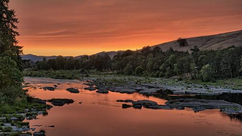 sunset reflection river smokey northumpqua gordoncottrell
