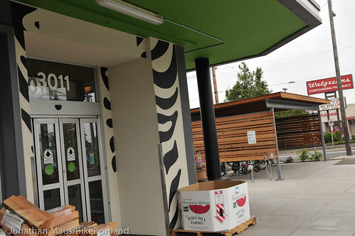 Bike parking at Green Zebra Grocery-20