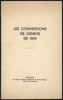 Les Conventions De Geneve De 1929